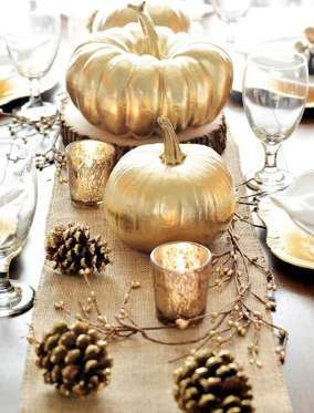 Cheap farmer's-market pumpkins + a can of gold spray paint. - A pumpkin & a Princess