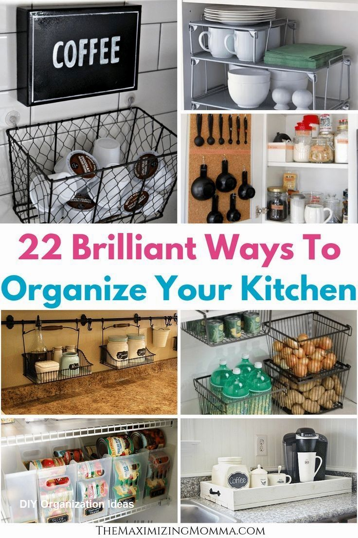 13 Easy To Do Diy Kitchen Organizers Kelly S Diy Blog In 2020