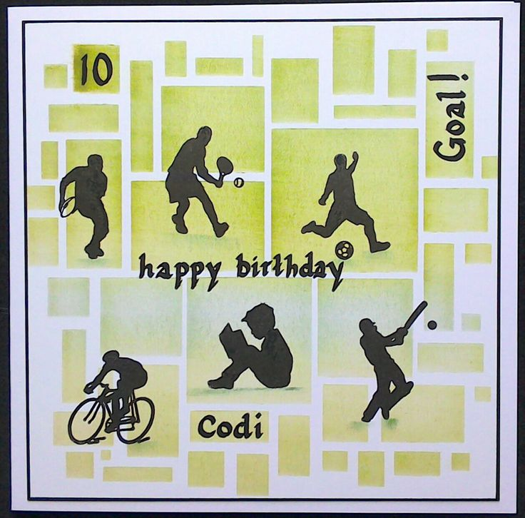 Clarity Stamps Wee Folk stamps used on this 10th birthday card by Lynne Lee