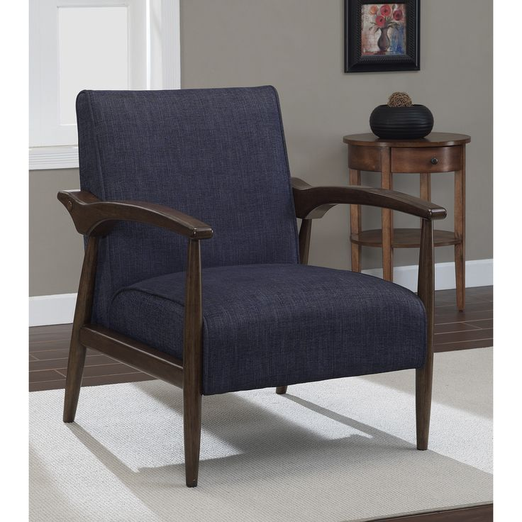 best living room chair%0A Gracie Retro Indigo Arm Chair  Overstock    Shopping  Great Deals on Living  Room Chairs