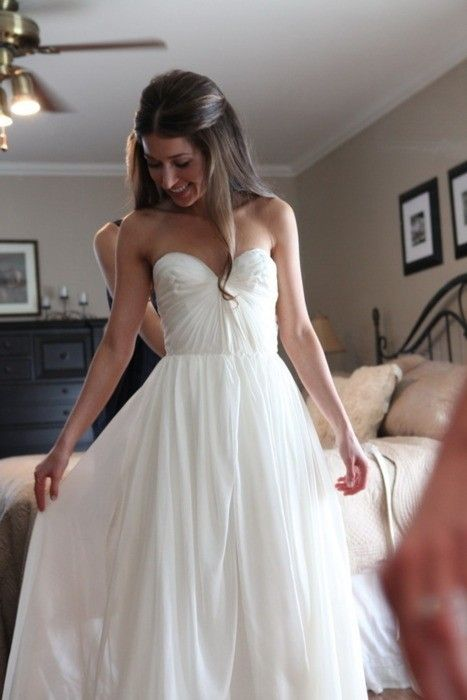 #wedding dress #dress #girl #pretty #bedroom #hair this dress with the higher waist will make you look taller