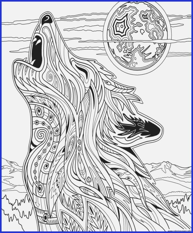 Exclusive Picture Of Wolf Coloring Pages For Adults Animal