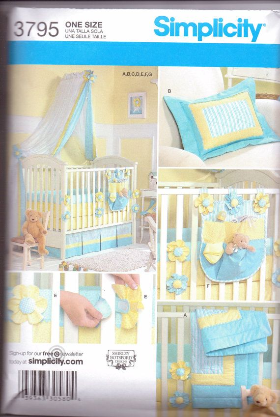 New Simplicity Pattern Baby Nursery Bedding By Purrfectschers 5 00