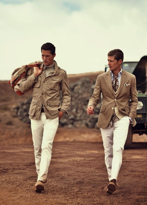 Beige over white-- classy casual when you need to wear a jacket