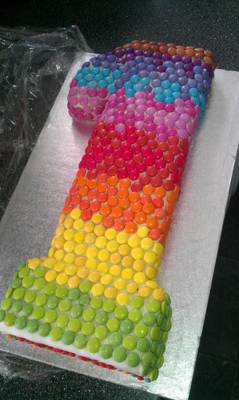 Smarties 1st Birthday Cake!