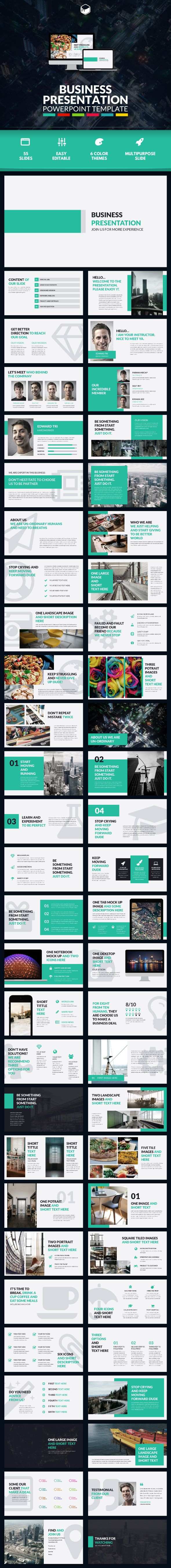 Business Presentation 3 - PowerPoint Template - #Business #PowerPoint #Templates Download here: https://graphicriver.net/item/business-presentation-3-powerpoint-template/18967885?ref=alena994