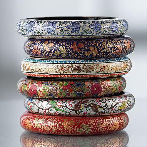 Kashmiri paper mache bracelets. #ExquisiteAccesories