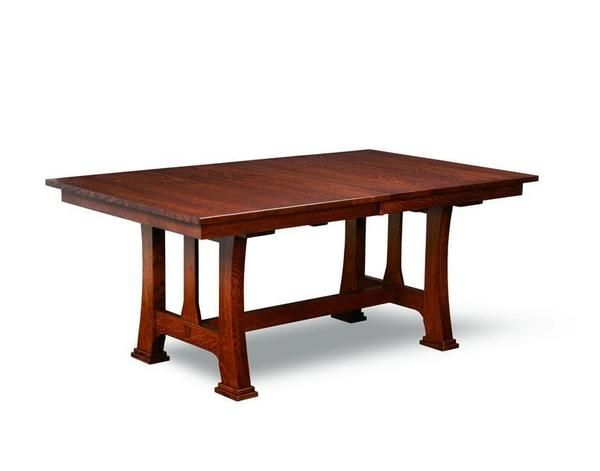 amish custer mission trestle dining table in 2019 craftsman rh pinterest com