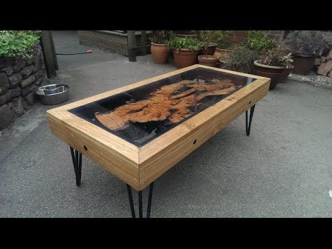 Tree Root, Oak And Glass Coffee Table: Reborn From Disaster............... DSNERV - YouTube