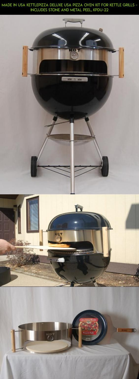 Made in USA KettlePizza Deluxe USA Pizza Oven Kit for Kettle Grills - Includes Stone and Metal Peel, KPDU-22 #racing #products #fpv #kit #plans #shopping #drone #camera #gadgets #tech #technology #in #grills #parts #made #usa