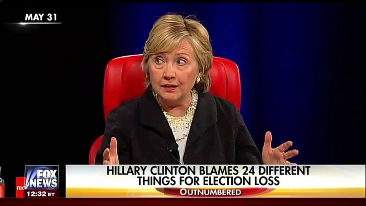 Time is said to heal all wounds. But the self-inflicted wound Hillary Clinton experienced in November continues to fester. And her laundry list of those to blame for her loss continues to grow.