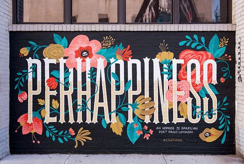 Typeverything.com - Perhappiness painting in...