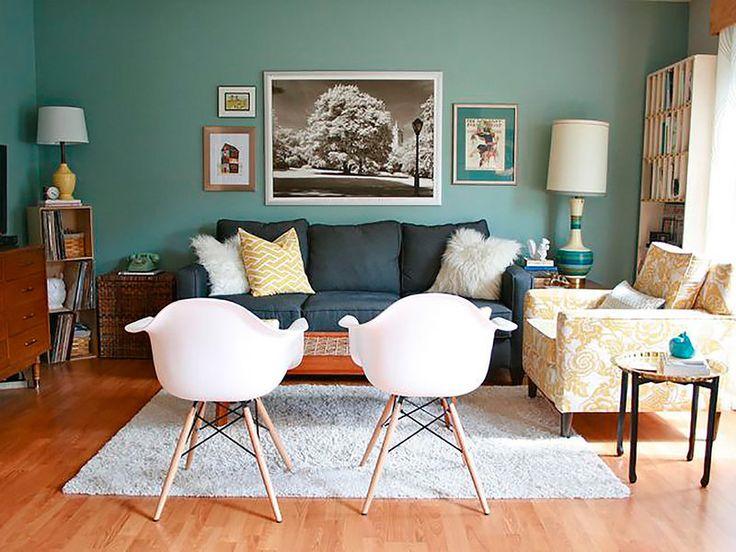 Salones peque os que inspiran decoraci n interiores sala dormitorio salas peque as y - Pinturas para salones pequenos ...