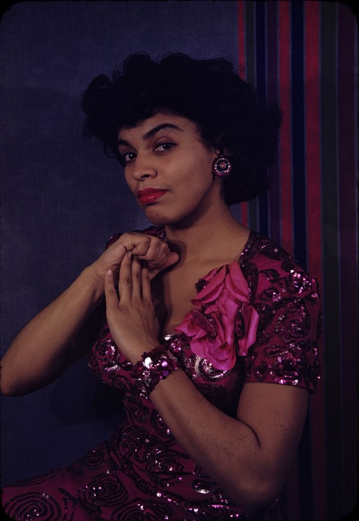 """Muriel Smith, photographed in 1944 by Carl Van Vechten as """"Carmen,"""" the role she originated on Broadway. In 1956, she turned down an offer from Samuel Goldwyn to star in the film version of """"Porgy and Bess,"""" stating, """"It doesn't do the right thing for my people."""" After a successful career overseas, particularly Great Britain, the New York-born Ms. Smith taught voice at Virginia Union University before her death in 1985."""