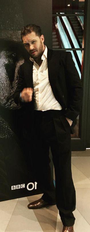 He's a God. Tom Hardy - Taboo   Uk Premiere London, England - November 29, 2016.
