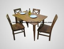 R.A. Kartini Living Set  Dining Table Set made from solid teak wood, in natural color finished. Suitable for cafe, restaurant, or your dining room at home. Interested to buy now? Call me on +628112648016