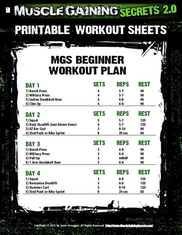 20 Gym Workout Plan Pdf Download Workouts And Diet Plan In 2021 Muscle Gain Workout Muscle Building Workout Plan Workout Plan Muscle building workout plan pdf