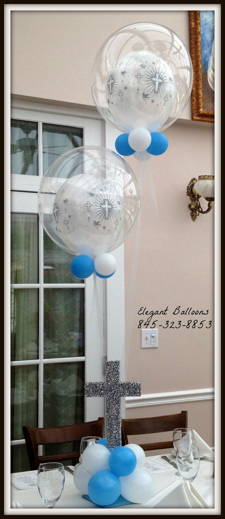 Best 25 christening balloons ideas on pinterest for Balloon decoration ideas for christening