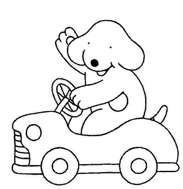 auto kleurplaat zoeken thema kermis