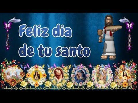feliz dia de tu santo#felizdia de tu santo, que sea un dia lleno de #felicidad y con gratitud a todas las #benciones, Dios te bendiga con la seguridad y fuerza de llenar con sonrisas tu hogar, tu trabajo y a tu familia.