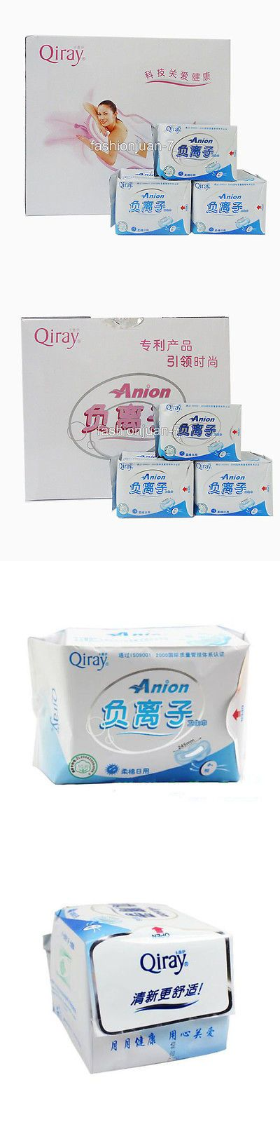 Sanitary Napkins: 19 Packages Winalite Qiray Anion Sanitary Napkins No Fluorescent Agent Day Liner BUY IT NOW ONLY: $75.85