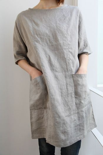 Linen tunic dress | make | Pinterest | Linens, Linen Tunic and Pockets