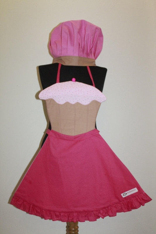 Cupcake Apron by HappyApronsTR on Etsy, $65.00