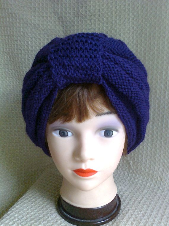 Vintage style 50s Turban Hat by Biskettblue on Etsy