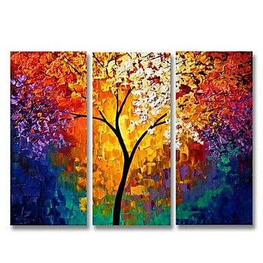 Pintura a leo Pintados  mo  Paisagem Tela de pintura 3