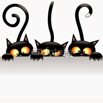 """Black Cats Attack!""  Meooww! !  http://bluedarkart-the-chameleon-art.blogspot.it/2013/10/black-cats-attack.html"