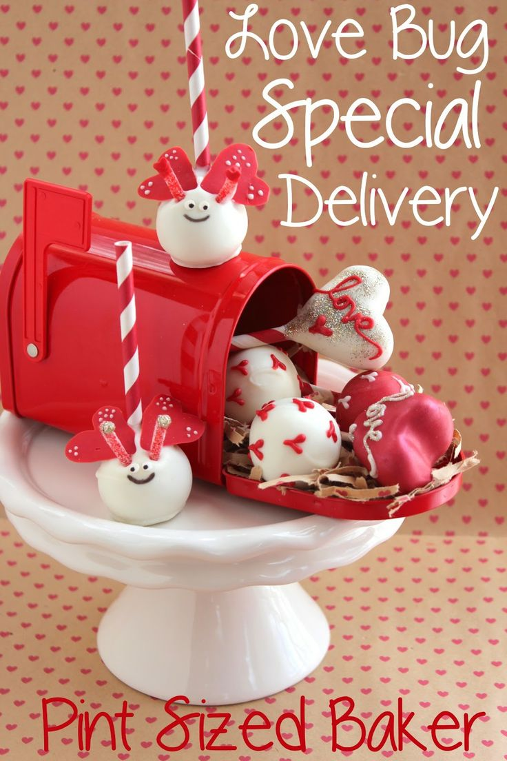 Pint Sized Baker: Valentine Love Bug Delivery of Cake Pops