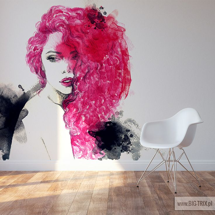 WOMAN: Watercolor pink wallpaper from www.big-trix.pl | #woman #watercolor #pink #wallpaper
