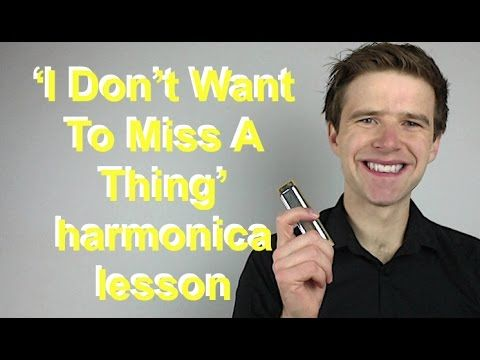 I Don't Want To Miss A Thing (Aerosmith) diatonic harmonica lesson - 90s week! In this harmonica lesson Liam Ward teaches you to play I Don't Want To Miss A ...