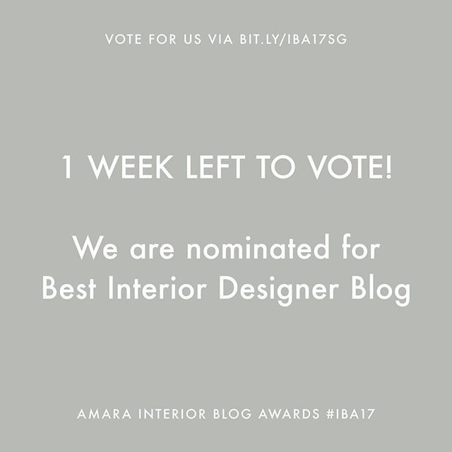 @studiogabrielleuk — 1 WEEK LEFT TO VOTE — ⠀ What happens if you vote? We could WIN 'Best Interior Designer Blog' at the Amara Interior Blog Awards 2017 #IBA17. Voting only requires a name and email. That's it. Vote via the link in bio (@studiogabrielleuk) or via bit.ly/IBA17SG #studiogabrielleuk - Follow us on Instagram www.instagram.com/studiogabrielleuk
