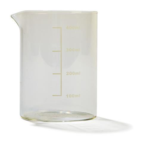 Glass Beaker Drink Jar - Clear