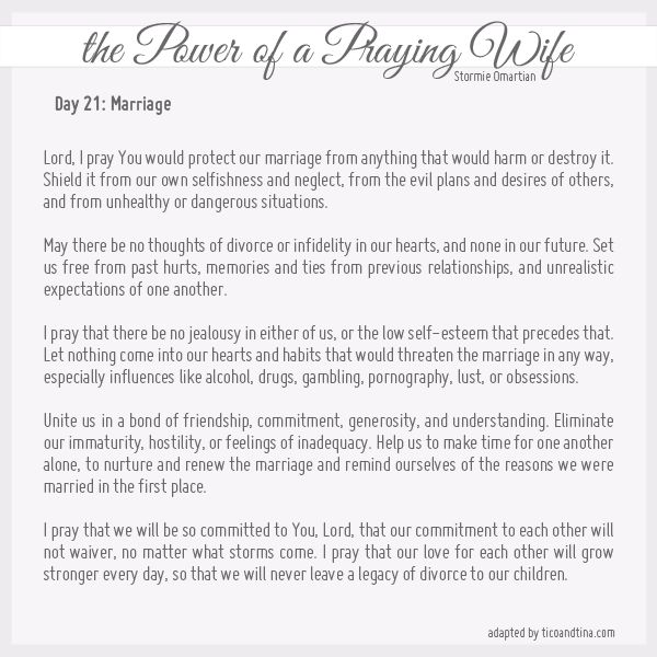 Praying for Your Husband and Your Children from Stormie Omartian
