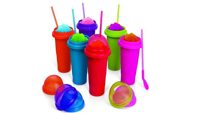 Chill Factor Colour Blast Slushy Makers - Packs of 3 or 6 Make delicious slushies in seconds with theChill FactorColour Blast Slushy Makers      Choose from a pack of 3 or 6      No mess and no fuss - easy to clean.      Great for kids and grown-ups      Simply freeze, add your chilled drink and squeeze      The slushy makers have a capacity of 600ml      Choose the flavour and the...