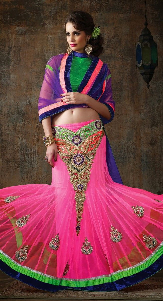 Chic Deep Pink Lehenga Choli
