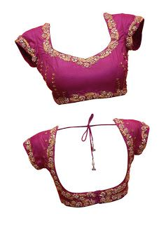 princess cut designer front and back saree blouse design