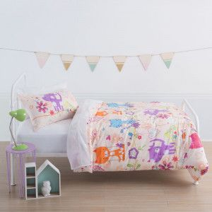 Happy Cats Duvet Cover Set by Squiggles