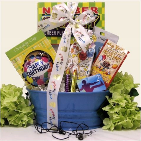 65 best gift baskets for kids images on pinterest auction ideas birthday tunes kids birthday gift basket this is a cool boys birthday gift basket for ages 9 to 12 years old our birthday tunes kids birthday gift negle Images