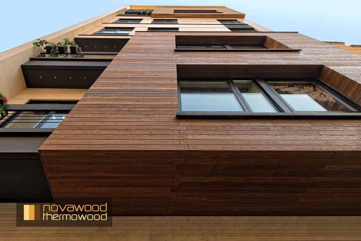 NOVATHERMOWOOD CEPHE KAPLAMALARI.Novathermowood Cephe Kaplamaları, binalarınızın en şık ve doğal kıyafeti. Ahşabın zarafetini her anlamda yansıtan novathermowood Cephe Kaplamaları ile binanız adeta smokin giymiş gibi değerli bir görünüme kavuşacak. novathermowood Cephe Kaplama ürünlerinden binanız için en uygununu seçin, ona doğal, şık, uzun ömürlü ve değerli bir görünüm kazandırın.Cephe ve Çatı Kaplama, FSC, cephe, çatı, masif ahşap.