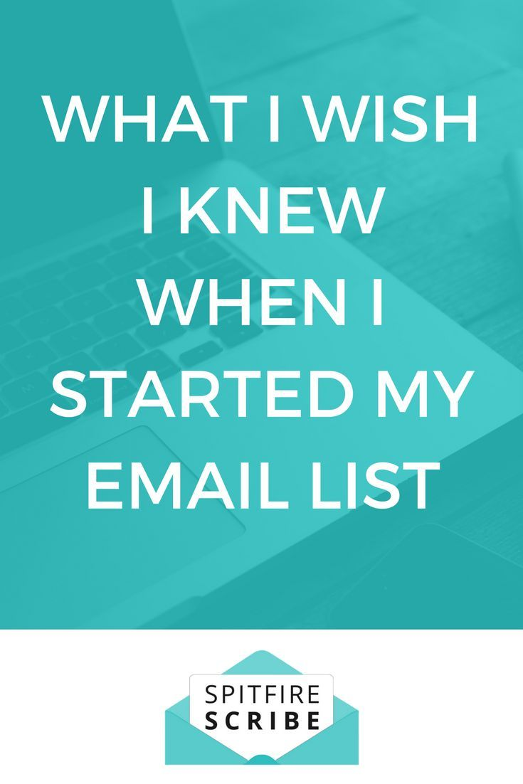 Here's what I wish I knew when I started my email list. Learn from my email marketing mistakes so you can start getting clients from your list.  via @spitfirescribe