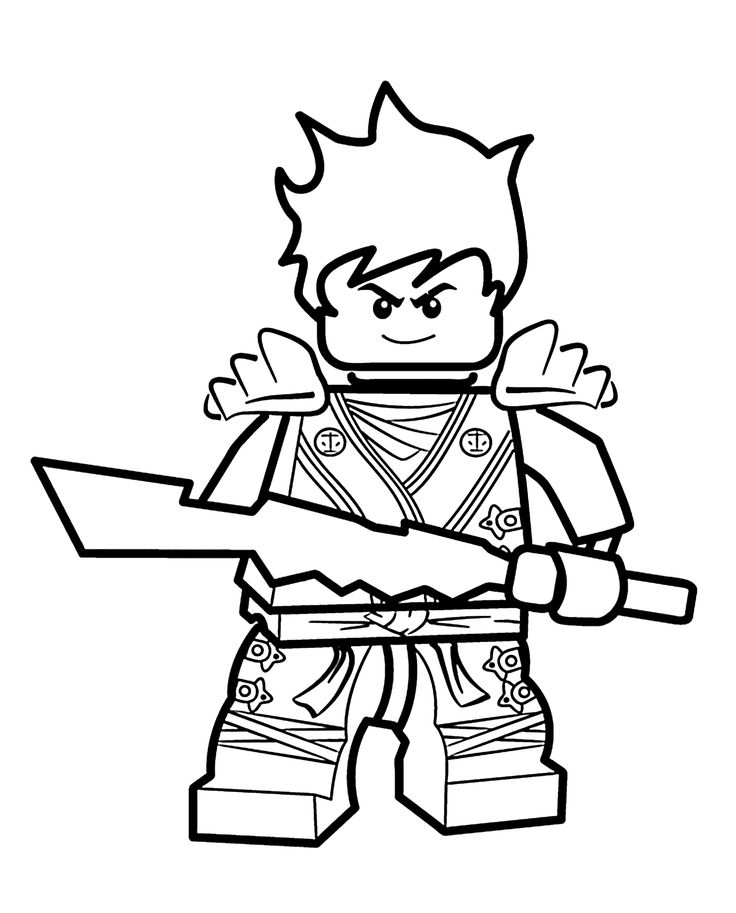 kai ninjago coloring pages for kids printable free lego coloring page - Lego Movie Free Coloring Pages 2