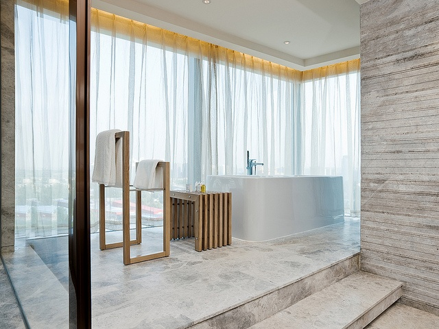 Suite-Bath at EAST, Beijing by swirehotels, via Flickr