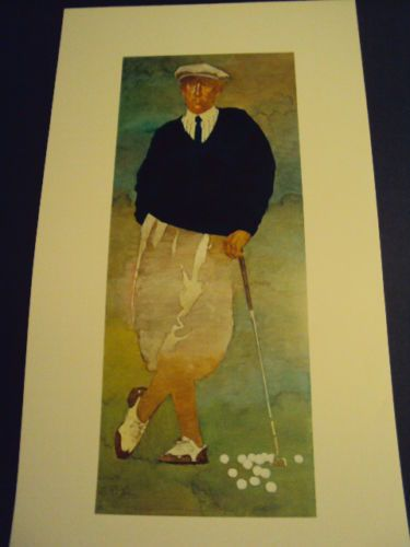 Bart Forbes Golf Art Print Quot The Golfer Quot Vintage Male