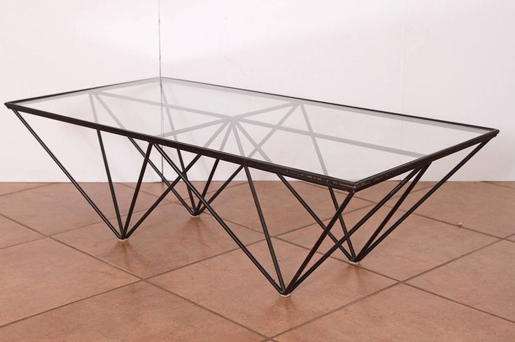 Paolo Piva Wrought Iron & Glass Alanda Coffee Table B&B Italia, circa Early 1980 | From a unique collection of antique and modern coffee and cocktail tables at https://www.1stdibs.com/furniture/tables/coffee-tables-cocktail-tables/