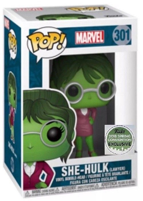 Marvel She Hulk Lawyer Funko Pop 2018 Spring Convention Exclusive