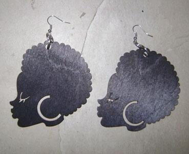 Afro Girl EarringsFashion, Apparel Earrings, Nature Apparel, Girls Earrings, Nature Style, Nature Hair