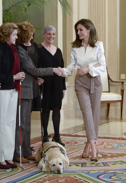 Queen Letizia of Spain attends Audiences at Zarzuela Palace on January 23 2018 in Madrid Spain